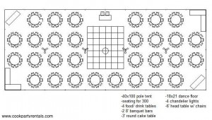 40 x 100 Tent Layout & Seating