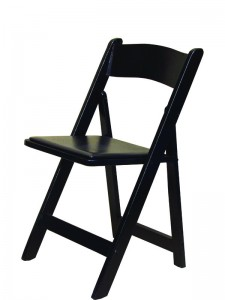 Black Resin Padded Chair - Party Rentals