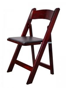 Mahogany Resin Padded Chair - Party Rentals