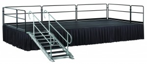 Staging with Skirting - Party Rentals