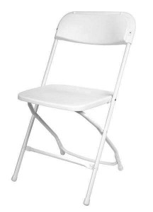 White Folding Chair - Chair Rental