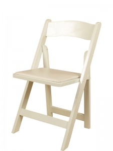 White Resin Padded Chair - Chair Rental